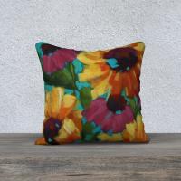 Sunflower Throw Pillow 18″ x 18″