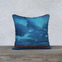Havre Boucher Evening Throw Pillow 18″ x 18″
